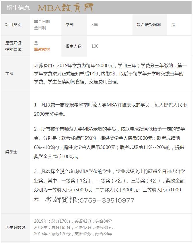 华南师范大学MBA项目